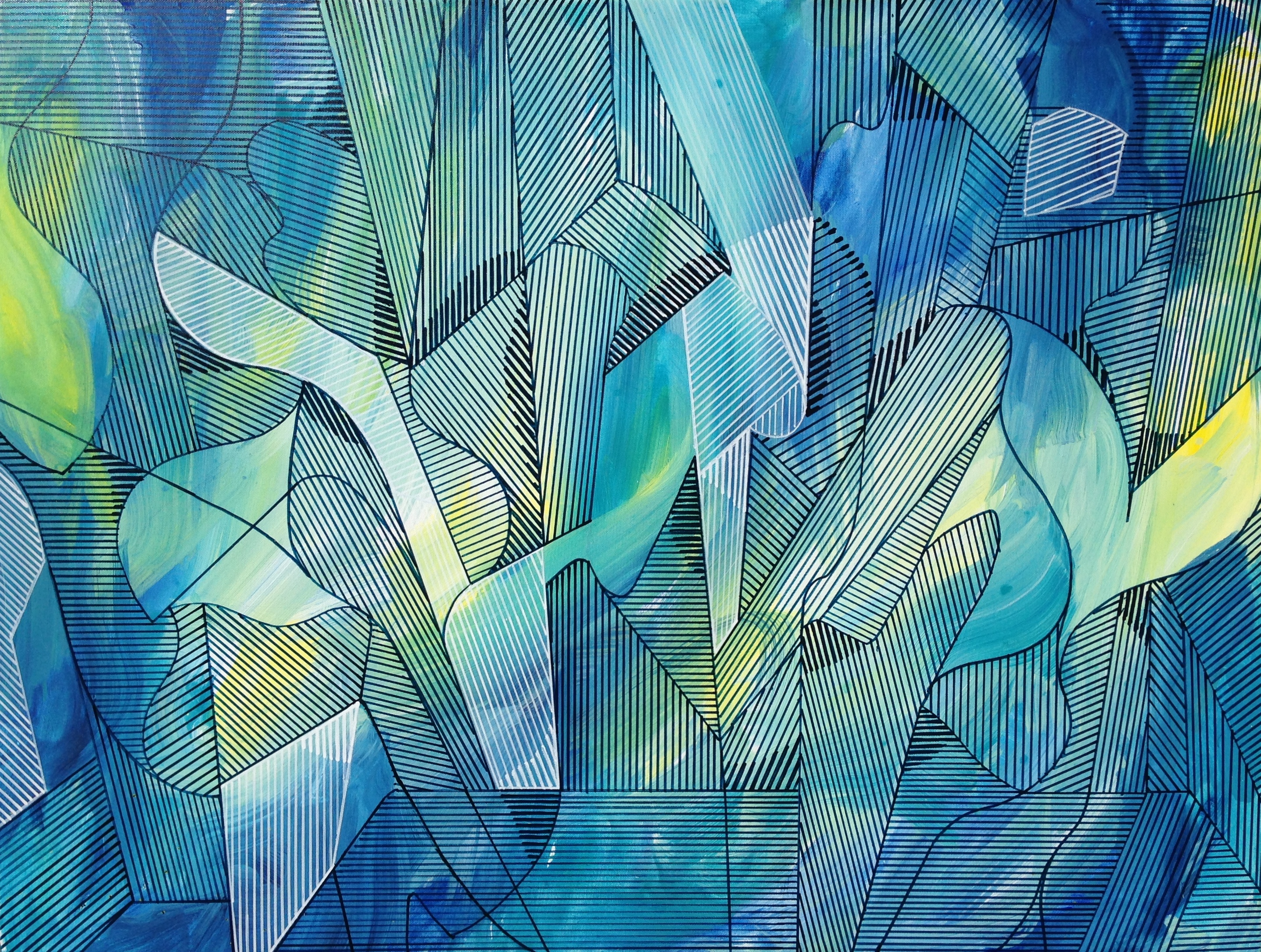 Geometric abstract painting.