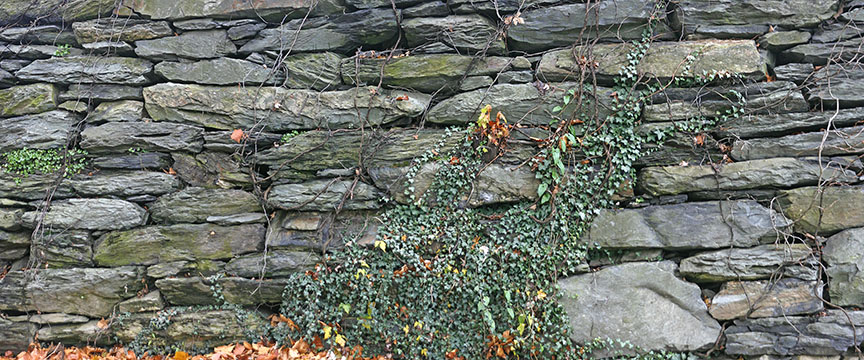 Stone wall in Harpers Ferry