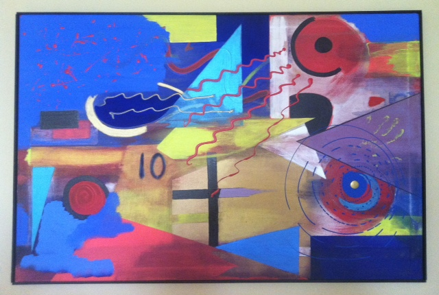 Tribulation by Waldo, 33 x 50, 1994 (Collection of the Artist)