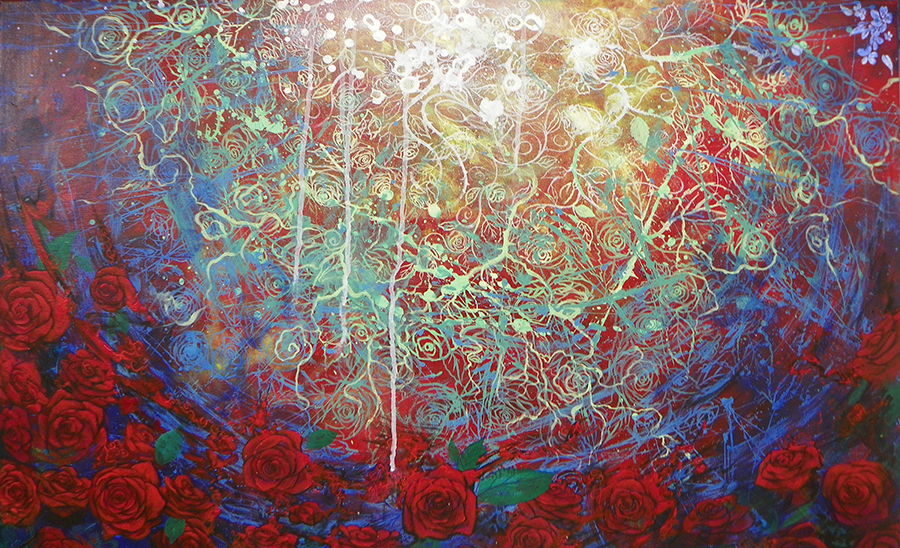 Roses Painting by Parris Ashley