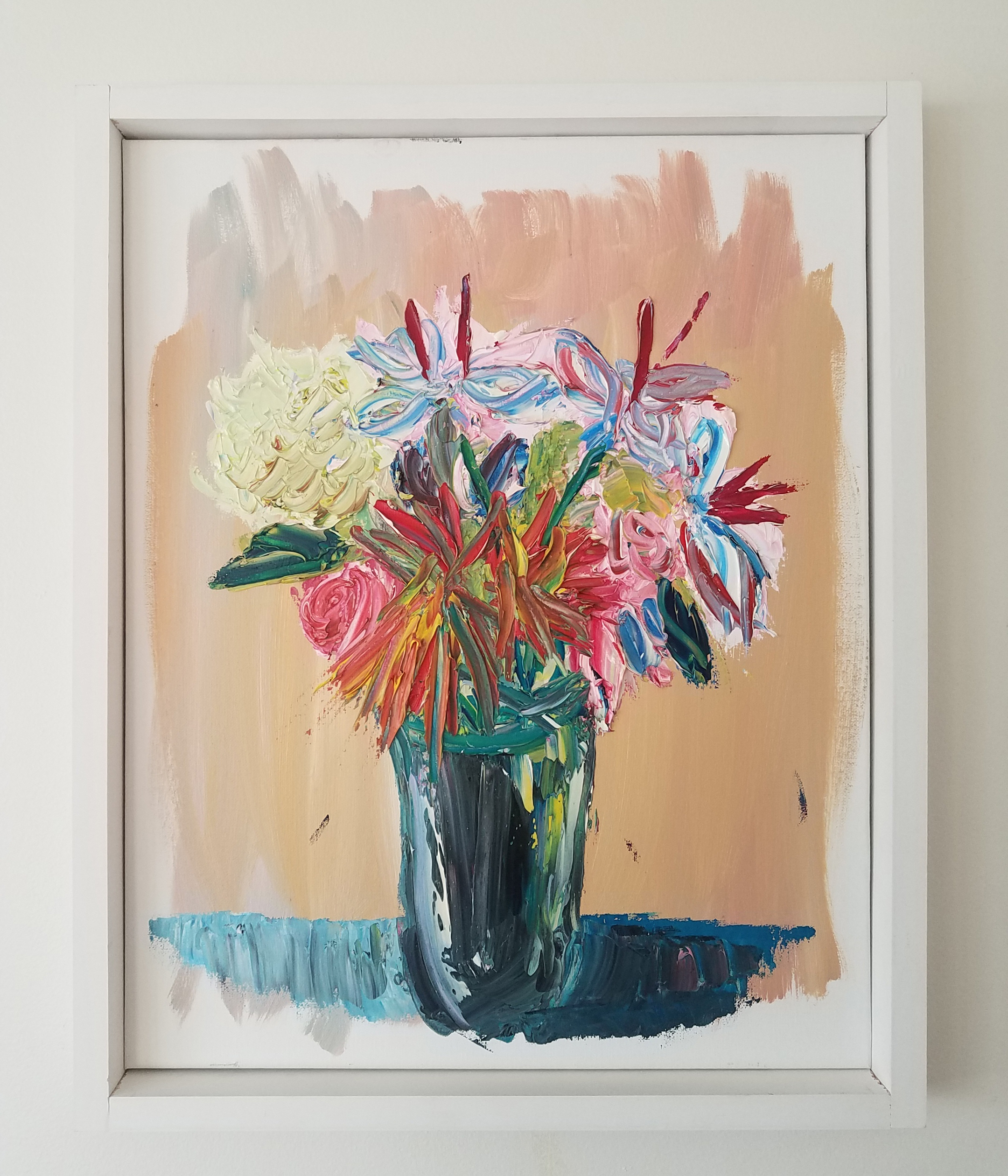 Gestural painting of bouquet.