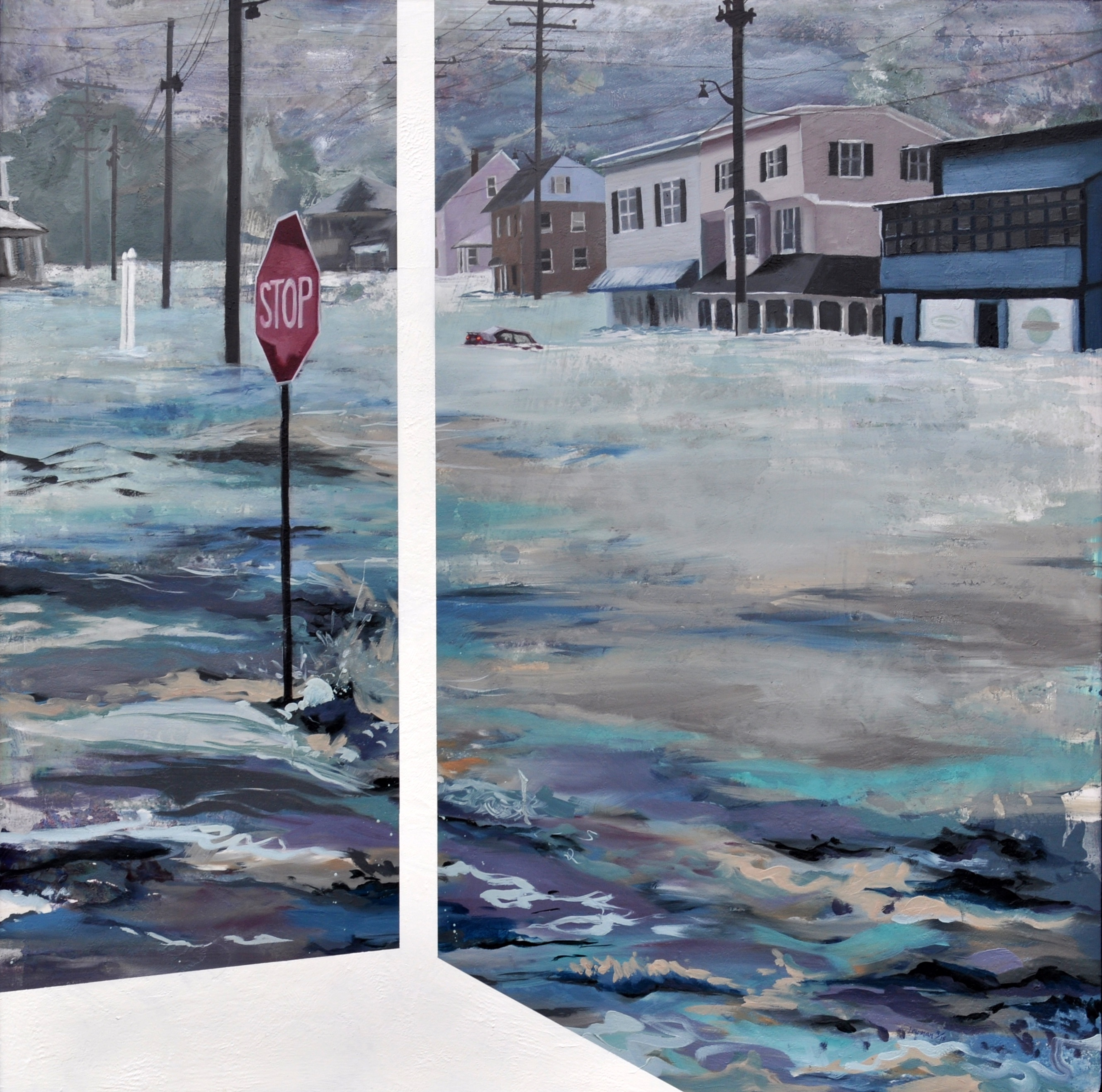 """Whole Town Underwater"" by Leah Lewman"