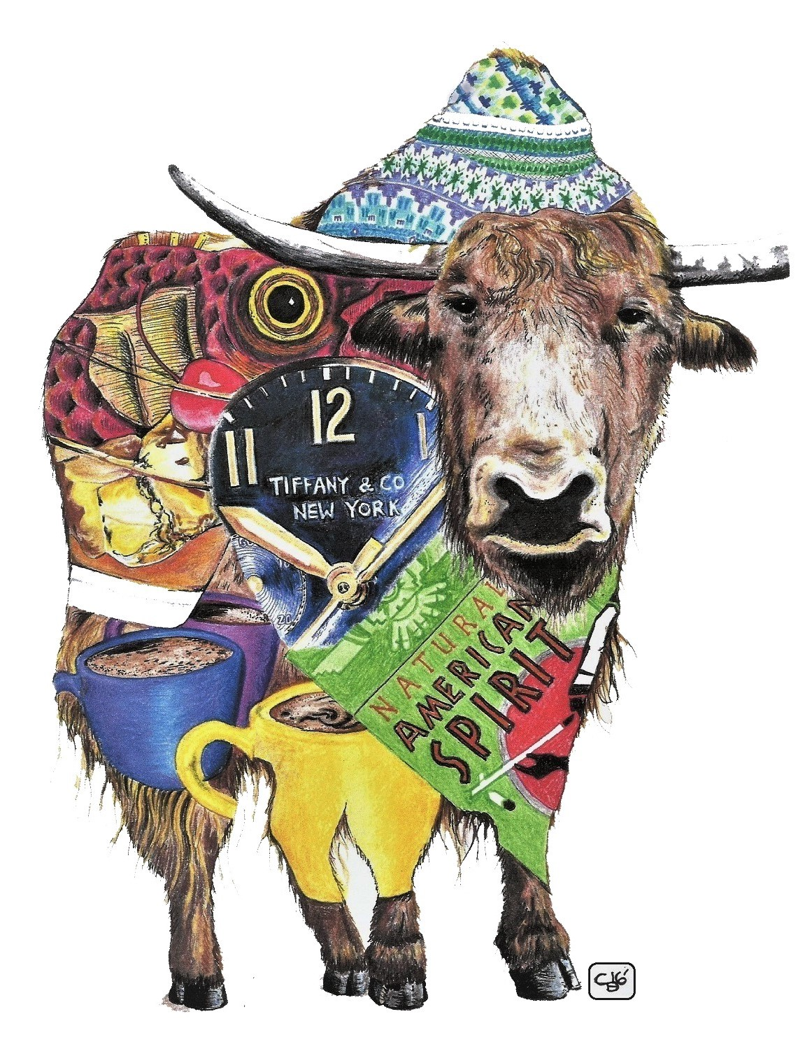 Yak, Objects, Drawing, Detail, Animal, Colored Pencil, Marker