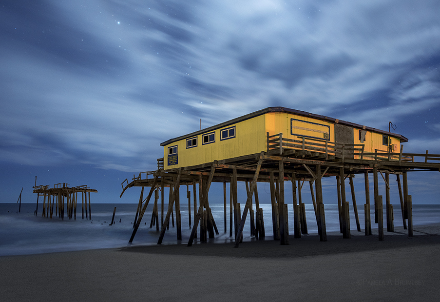 outer banks, frisco pier, north carolina, fishing pier