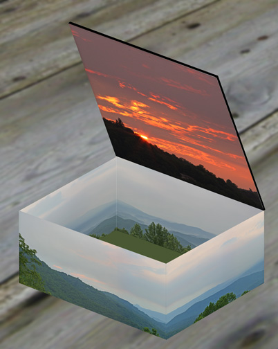 Opened box with new day visible on the lid