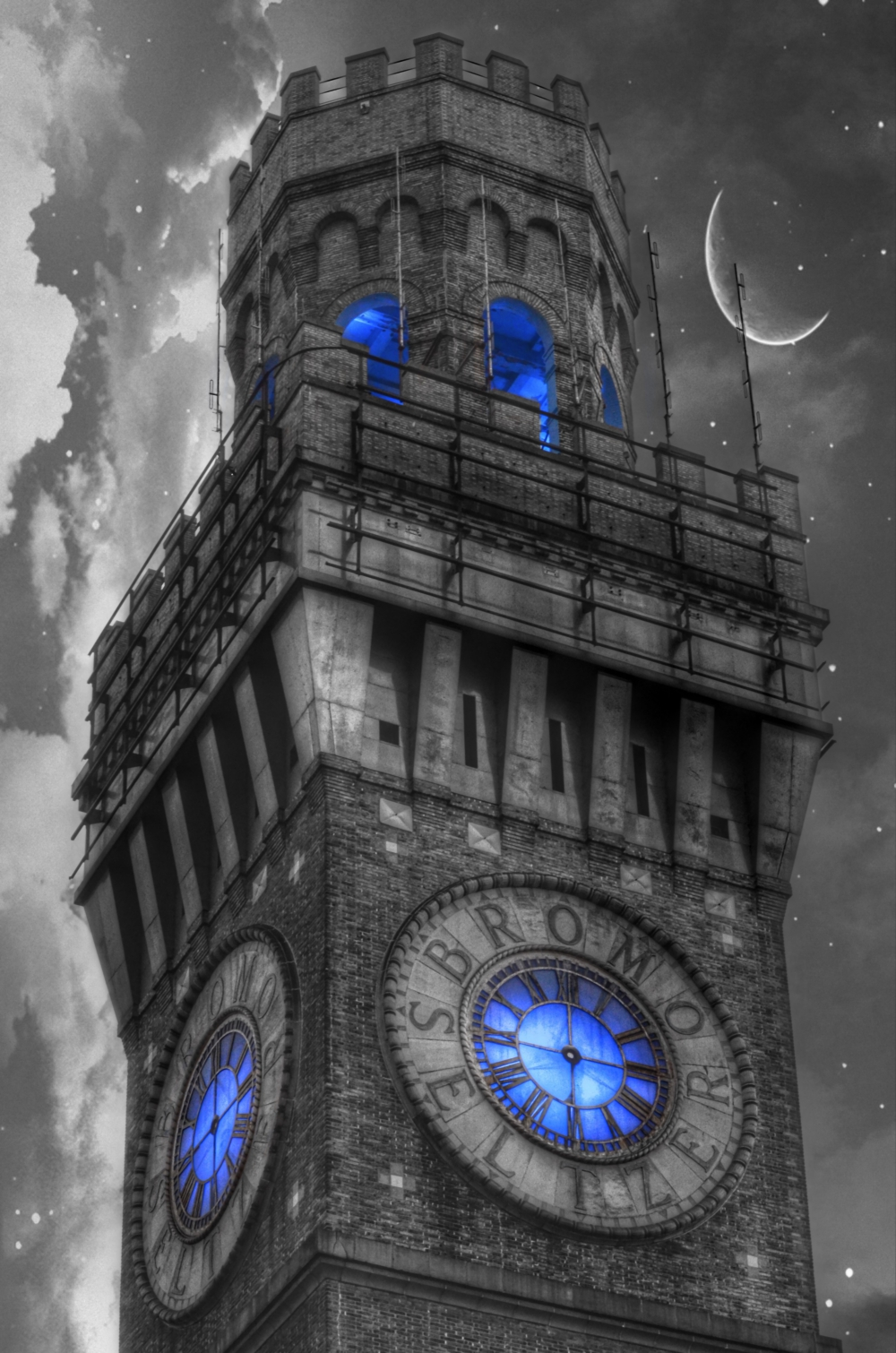 Bromo Seltzer Tower - Baltimore, Maryland by Marianna Mills