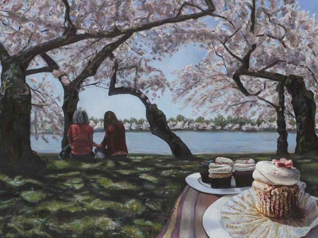 Oil painting of Cherry Blossoms