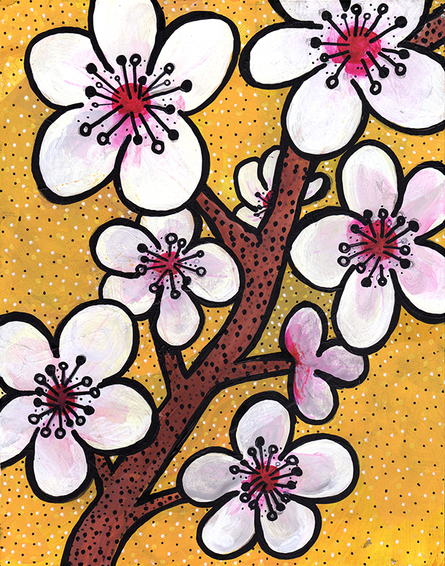 Cherry Blossoms by Claudine Intner