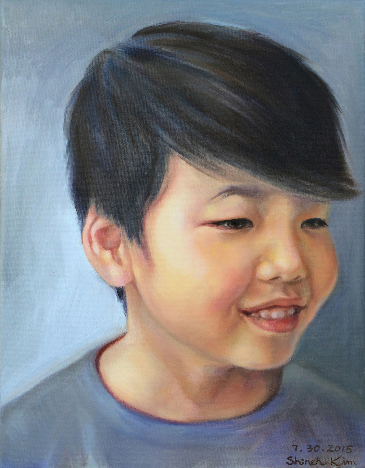 A Portrait of Artist's Son - oil on canvas