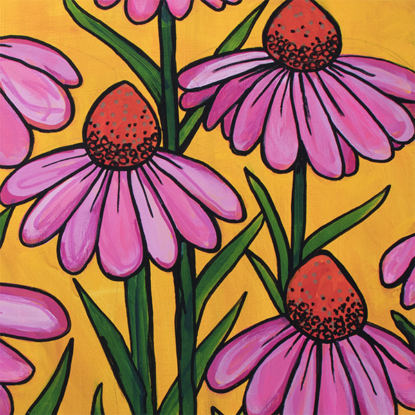 Coneflowers by Claudine Intner