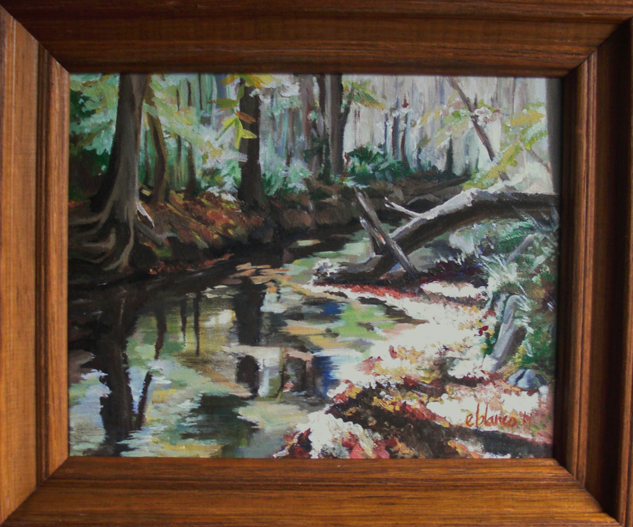 Creekside original painting by Emma Blanco