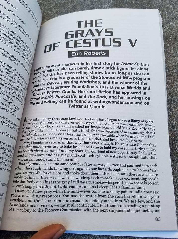 Image of the opening page of The Grays of Cestus V