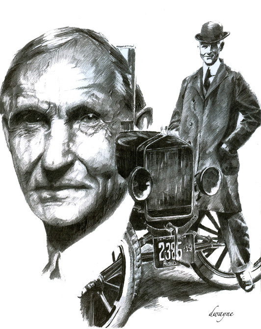 portrait, ford motor company, Henry Ford,
