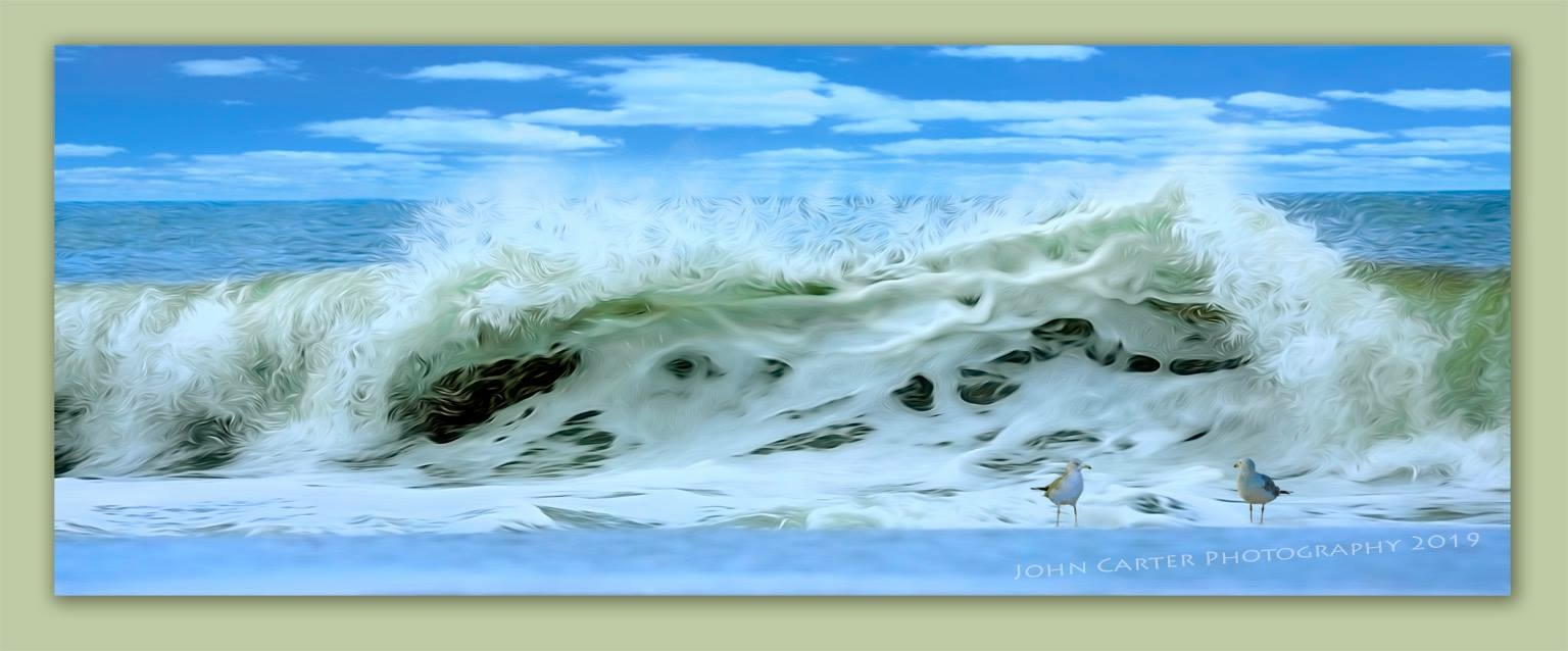 Artistic Rendering of Huge Wave from Assateague Island
