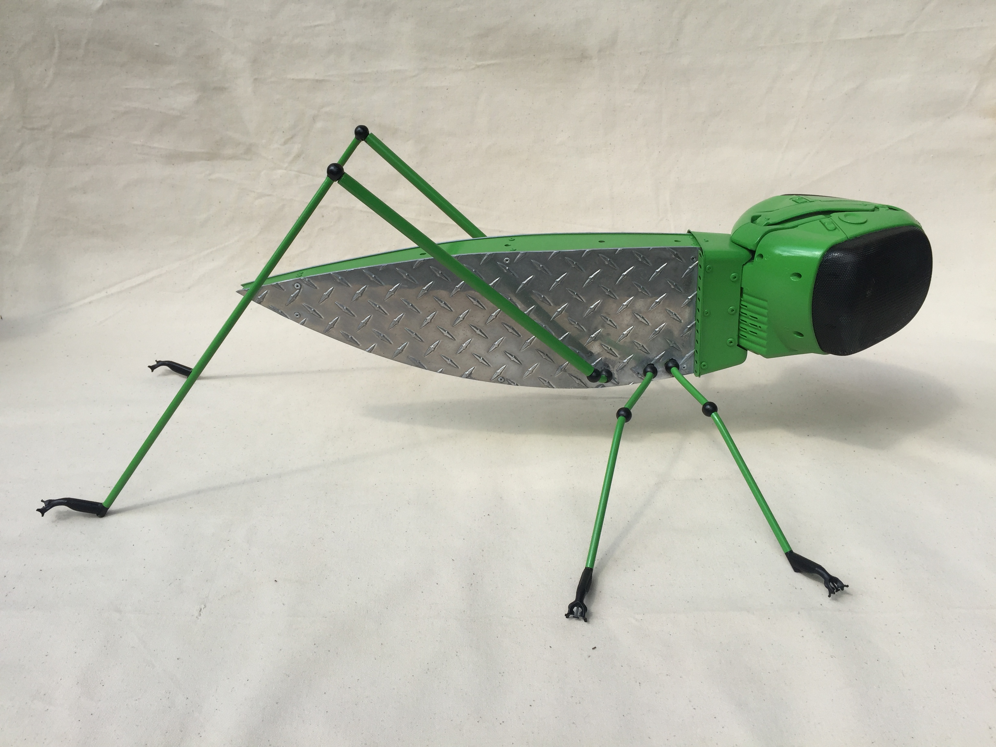 metal&aplastic insect sculpture
