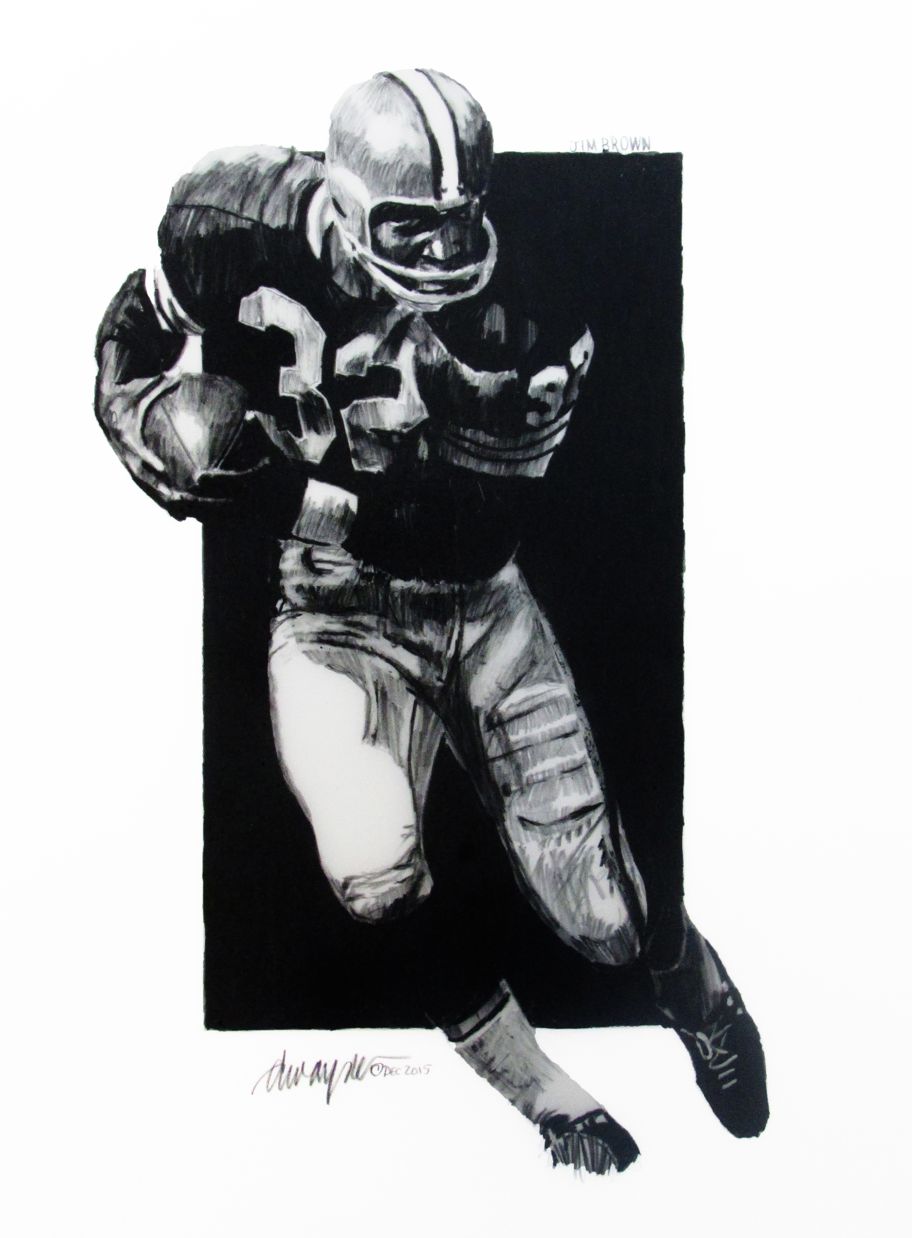 football, fullback, African American, Jim Brown, Hall of Fame
