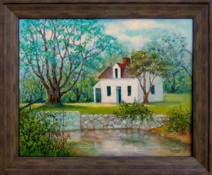 Lockhouse 7 and Canal 16x20 oil sticks