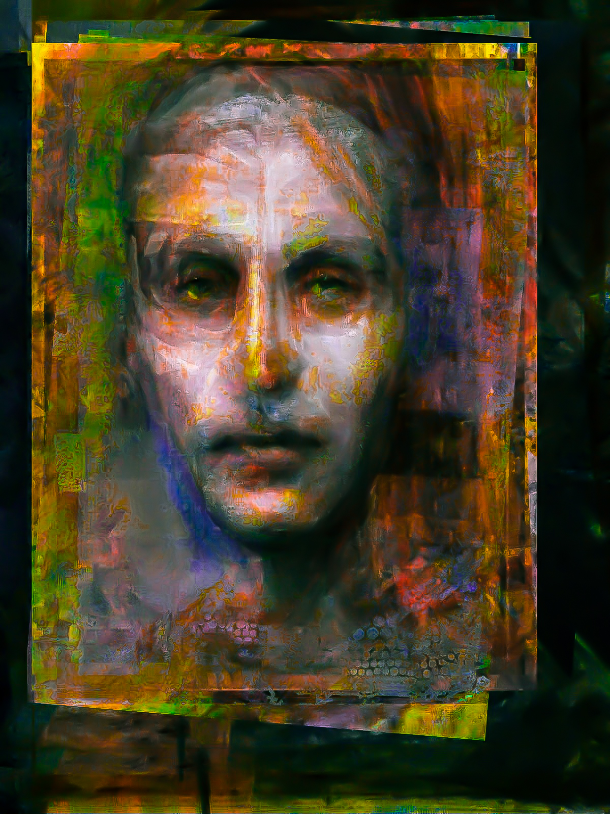 digital, portrait, painting, nozick