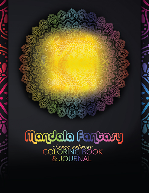 book cover of a bright yellow Mandala