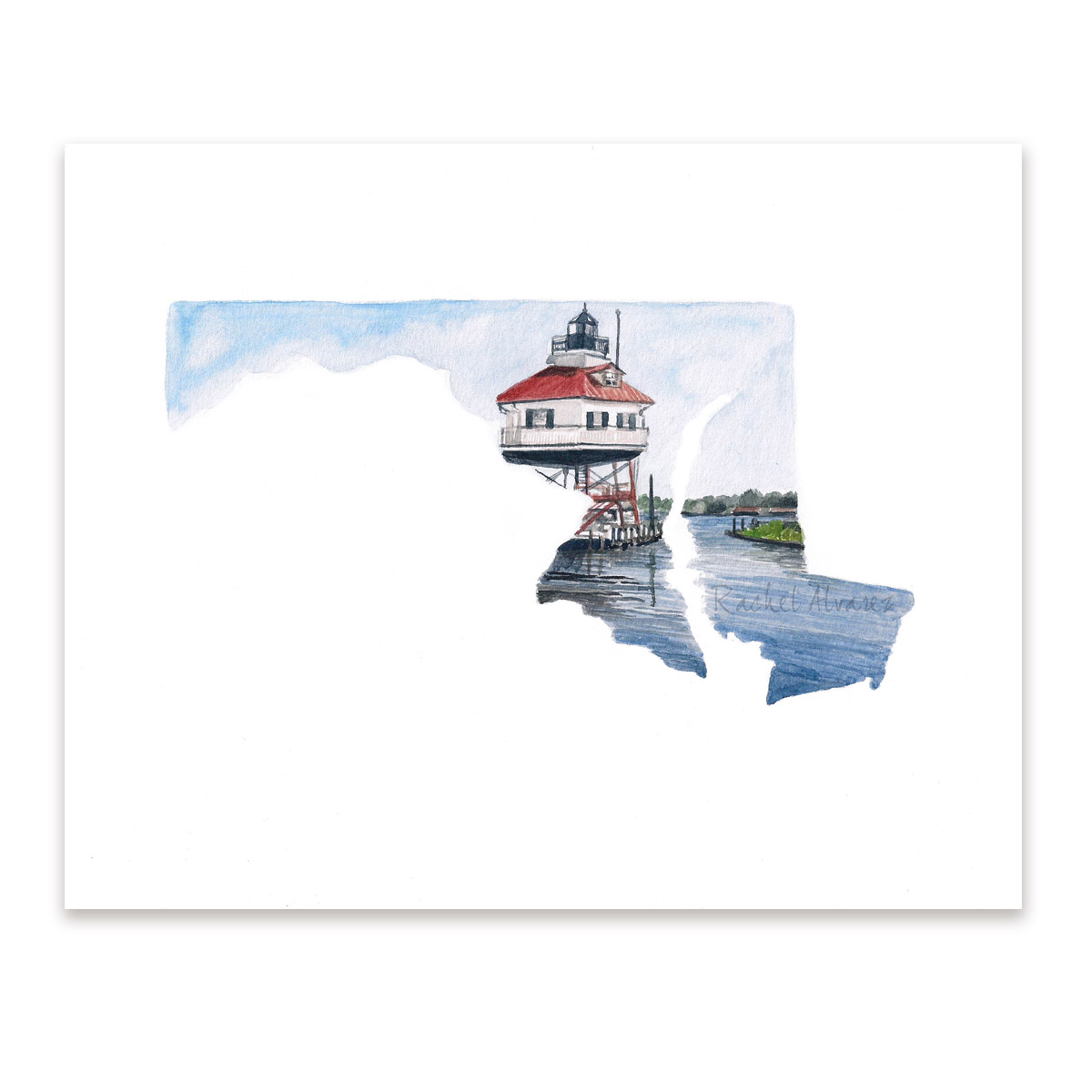 Maryland State Lighthouse Print