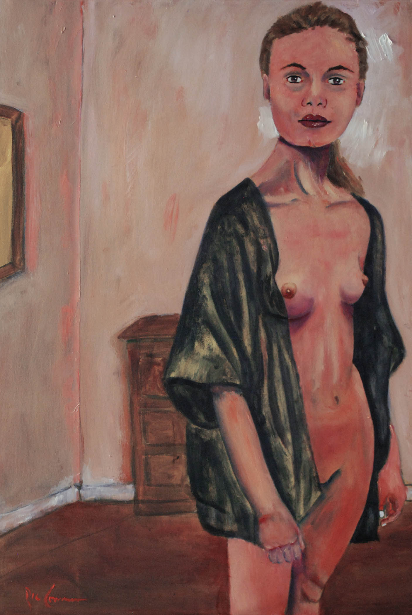 oil painting, nude, figurative, expressionism, modern art