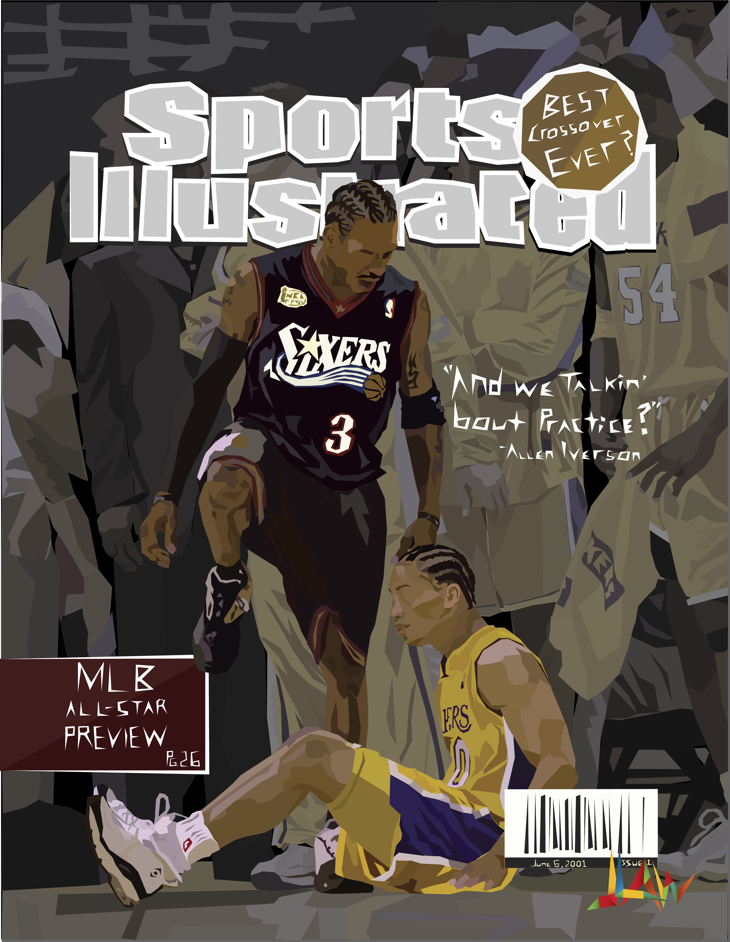 allen iverson, sports illustrated, sports, practice, sixers, lakers