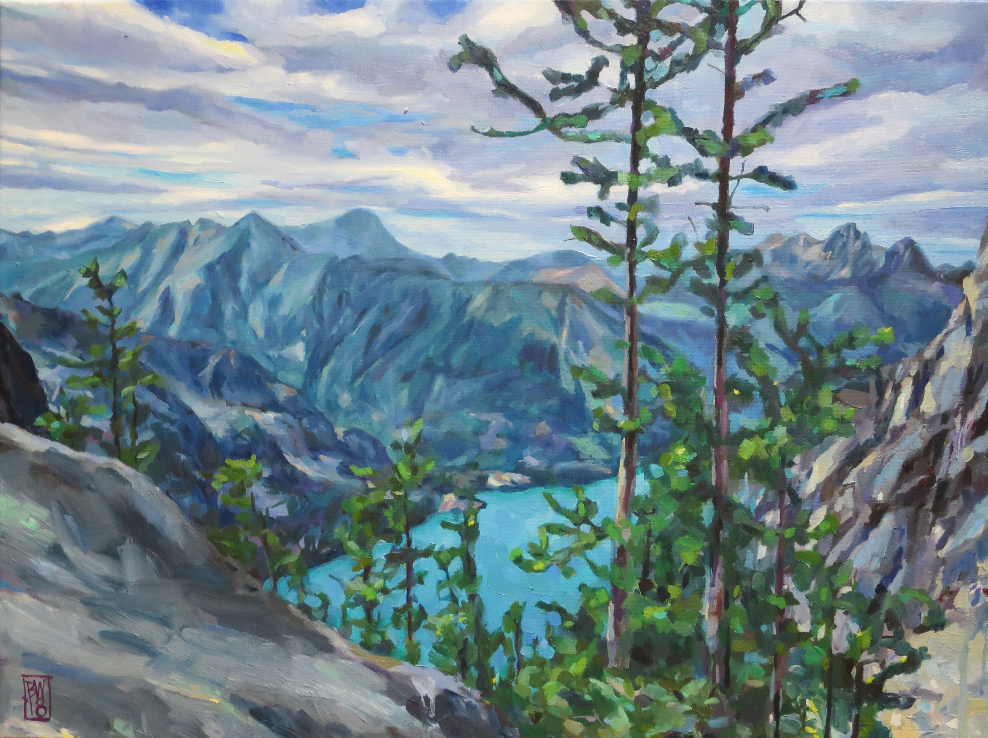 Overlooking Colchuck Lake, The Enchantments