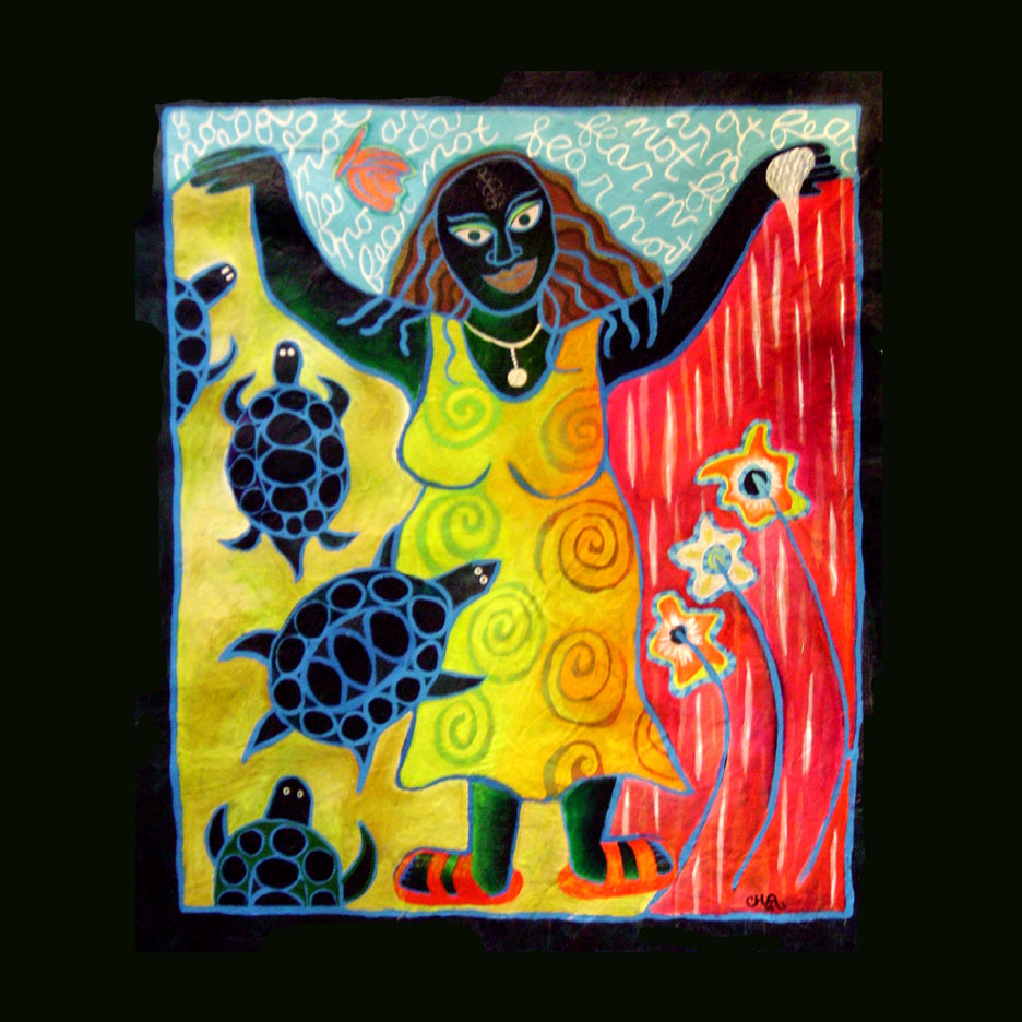 Visual art Painting Story telling Mural woman turtle empowerment