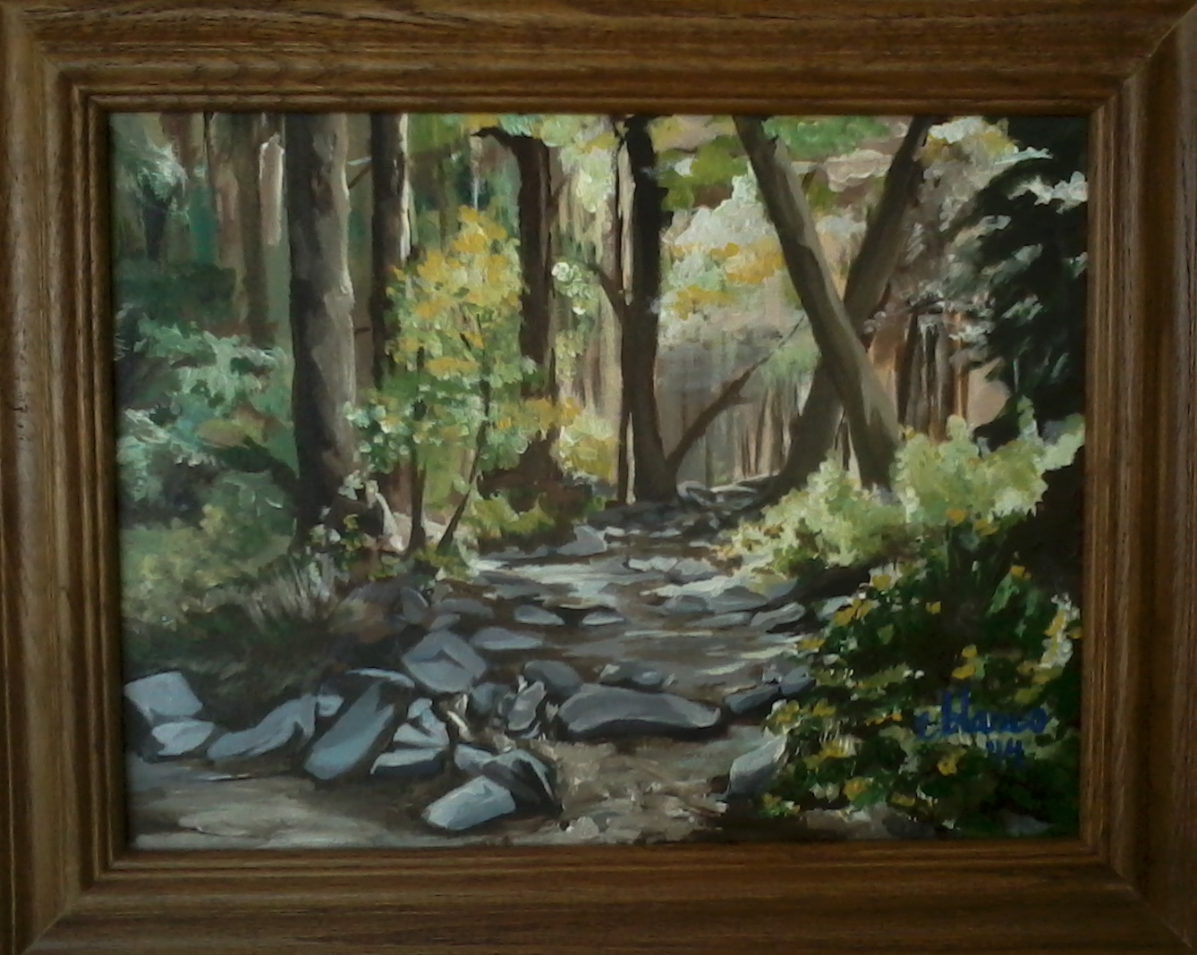 Wooded Creek original painting by Emma Blanco