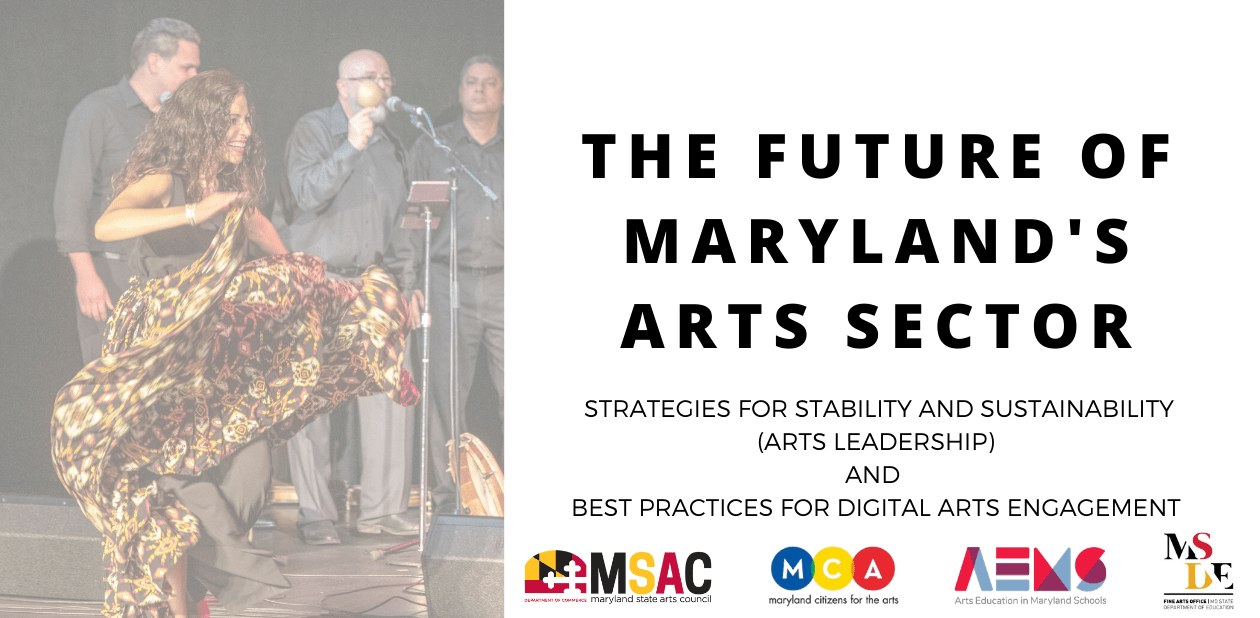The Future of Maryland's Art Sector banner