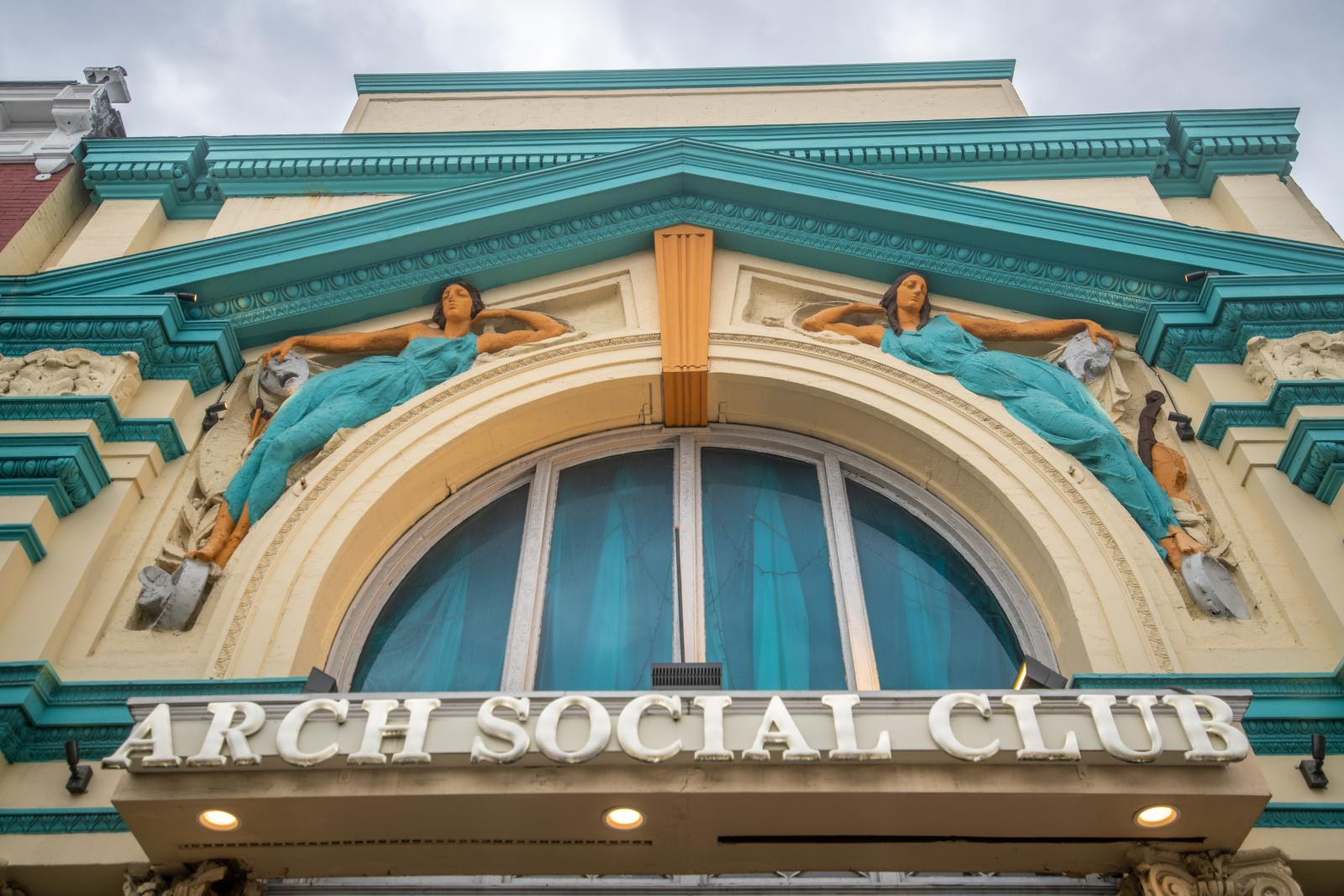 The Arch Social Club is an anchor organization of the Black Arts & Entertainment District running along Pennsylvania Avenue in Baltimore City. Photo by Edwin Remsberg Photographs.